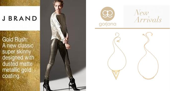 New Arrivals from Gorjana and J Brand
