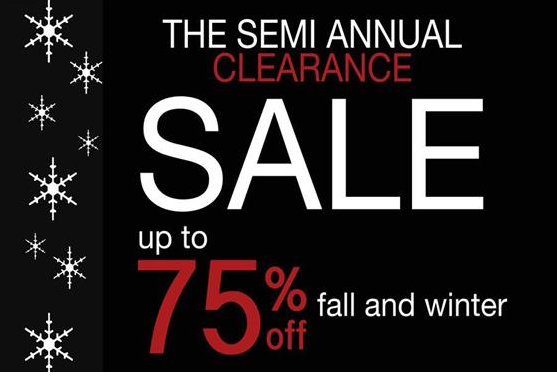 The Semi Annual Clearance Sale at Symmetry
