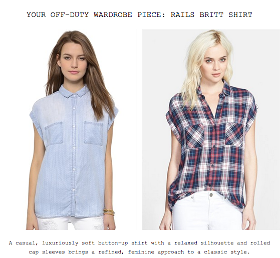 Your Off-Duty Wardrobe Piece: The Rails Britt Shirt